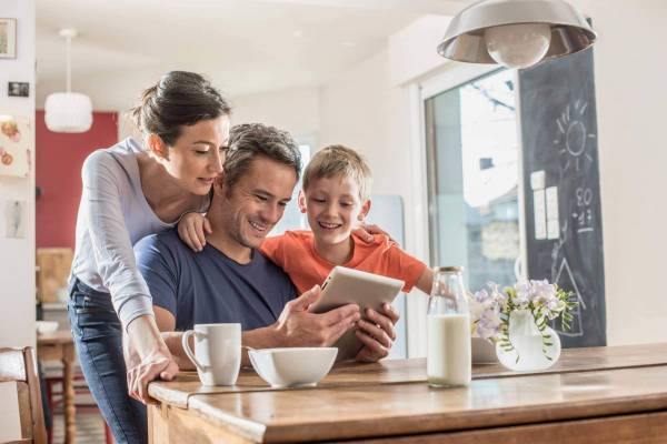 Family Saving Money on Your Energy Bills